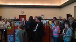 The line snaking through the library to meet Gordon Korman