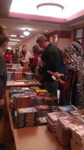 Books and more books at children's festival (2015)