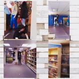 the carpet insall project, with lots of great volunteer help