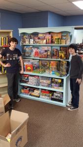 Aaron and friend showing off their game display (2016)